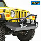 Heavy Duty Front Bumper With Winch Plate  D ring for 87 06 Jeep Wrangler YJ TJ