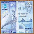 Federation of North America, 5 Ameros, 2011, Polymer, New, UNC
