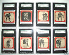 V252 1933-1934 CANADIAN GUM HOCKEY CARDS SGC GRADED LOT OF 8