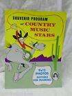 VINTAGE 1969 SOUVENIR PROGRAM of COUNTRY MUSIC STARS PHOTO ALBUM BOOK MAGAZINE