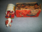 VINTAGE COWBOY JOE'S MUSICAL CHUCK WAGON W/ BOX 1951 MATEL PULL TOY - VERY RARE!