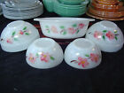 FIRE KING VINTAGE ANCHOR HOCKING DOGWOOD APPLE BLOSSOM SELECTION OF BOWLS ETC