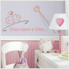 PRINCESS wall stickers 36 decals tiara wand jewels corwn hearts room decor