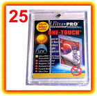 25 Ultra Pro ONE TOUCH MAGNETIC 55pt UV Card Holder Display Case 81909-UV 55