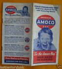 Vintage Highway Map-Amoco Gas Co. Maine To Florida 40's