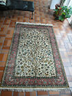 ANTIQUE HAND MADE ORIENTAL CARPET, PERSIAN, QUM, SILK, RUG, TITLED: TREE OF LIFE