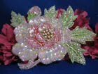 PASTEL FLOWER SEQUIN BEADED APPLIQUE 0197 N
