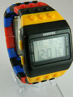 MULTICOLOR BLUE/YELLOW/RED/BLACK BLOCK S  SHHORS WATCH / with LED Night Light