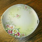 Hand Painted Noritake Nippon Cake Plate - White Pink Flowers
