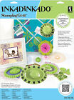 Deluxe Stamping Gear Kit with Unmounted Cling Rubber Stamp Sets Inkadinkado New
