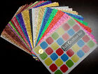12x12 Heavy Cardstock Paper GLITTER COLORS Pick Your Colors