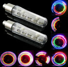 2piece Bike Bicycle Wheel Tire Valve Cap Spoke Neon Lights 5 LED Lamp 32 changes