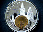 CZECH REPUBLIC COMMEMORATIVE MEDALION EUROPEAN CURRENCIES SERIE COIN INLAY M