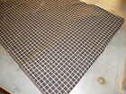 ANTIQUE PRIMITIVE REPRODUCTION  BLACK AND YELLOW  WINDOW PANE  HOMESPUN FABRIC