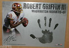 2012 TOPPS SUPREME ROBERT GRIFFIN III AUTO HAND STAMP 10 REDSKINS 13X18 INCHES