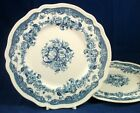 Johnson Brothers PERSIAN TULIP BLUE 2 Luncheon Plates GREAT VALUE