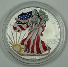 1999 Colorized American Eagle Silver Dollar Coin 1 Troy Ounce 999 Fine