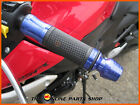 BLUE Quality Aluminium Hand Grips / Bar Ends fits Suzuki Grass Tracker Big Boy