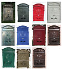 Vintage Retro Cast Aluminum Wall Mount Mailbox Mail Letter Box W/ Lock