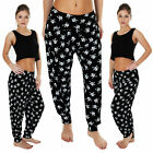 New Womens Ladies Ali Baba Skull Print Hareem Harem Trousers Pants Size 8-10-14