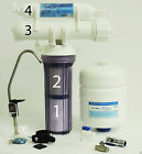 Max Water 4 Stage Home Drinking Reverse Osmosis System RO Water Filter 50GPD