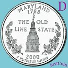 2000 D MARYLAND MD STATE QUARTER UNCIRCULATED FROM MINT ROLL