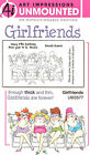GIRLFRIENDS Beach Unmounted Rubber Stamp Set W Cushion AI Art Impressions NEW
