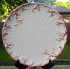 FITZ & FLOYD Oceana Dinner Plate  Coral Design on Edge Pink Off-White