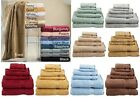 100% EGYPTIAN COTTON 600 GSM 6 PIECE TOWEL SET - MULTIPLE COLORS