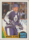 1987-88 O-PEE-CHEE - WENDEL CLARK #12 TORONTO MAPLE LEAFS AUTOGRAPH CC