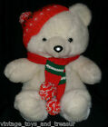 18 VINTAGE 1986 KMART CHRISTMAS TEDDY BEAR STUFFED ANIMAL PLUSH TOY SCARF HAT