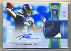 RUSSELL WILSON Topps Finest Blue Refractor 3 clr Patch Auto 99 RC FS Wow Sick