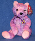 TY CLUBBY VI (6) the PURPLE BEAR BEANIE BABY - MINT with MINT TAGS