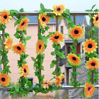 DIY Artificial Sunflower Garland Flower Vine for Home Wedding Floral Decor NEW