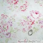 BonEful Fabric FQ Cotton Quilt Pink Purple White Cottage Rose Shabby Chic Flower