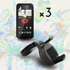 Car Mount Holder +Screen Protector for HTC Droid Incredible 4G LTE Fireball 6410