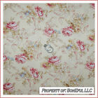 BonEful Fabric FQ Cotton Quilt Victorian Cottage Rose Flower French Shabby Chic