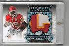 2008 EXQUISITE JAMAAL CHARLES RC AUTO PATCH GOLD # 75