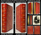 1887 WORKS OF ALFRED LORD TENNYSON POETRY POEMS RED GILDED LEATHER BINDING WOW