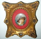 ANTIQUE 1800's HAND PAINTED ARTIST SIGNED GAINSBOROUGH PORCELAIN PORTRAIT CAMEO