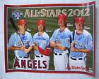 Mike Trout CJ WILSON Jered Weaver MARK TRUMBO Signed Angels Poster Auto PSA DNA