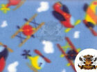 Fleece Printed Fabric AIRPLANES 58 Wide Sold by the yard