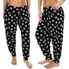 New Womens Ladies Ali Baba Skull Print Harem Hareem Trousers Pants Size S M L XL