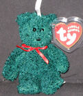 TY 2001 HOLIDAY TEDDY JINGLE BEANIE  - MINT with MINT TAG