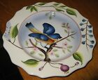 Bird Plate- Hand Painted  Blue Bird Plate by Home Interiors- Beautiful!
