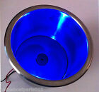 BLUE LED LIGHT STAINLESS STEEL MARINE BOAT CUP DRINK HOLDER # 1016PWI