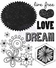 Free Spirit Collection Dream Clear Unmounted Rubber Stamp Prima Inc 572624 New