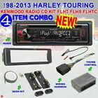 98-2013 HARLEY TOURING KENWOOD RADIO CD INSTALL ADAPTER DASH KIT FLHT FLHX FLHTC