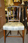 Early Hepplewhite Side Chair with Carved Ash Details Circa 1920's