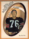 1970 , OPC , O-PEE-CHEE , CFL , JAY ROBERTS , CARD #6 , PUSH-OUT INSERTS , G VG